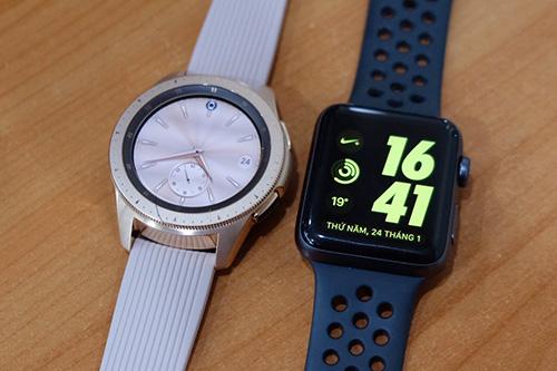 Galaxy Watch có giá tương đương Apple Watch series 3 (hình) và rẻ hơn nhiều so với series 4.