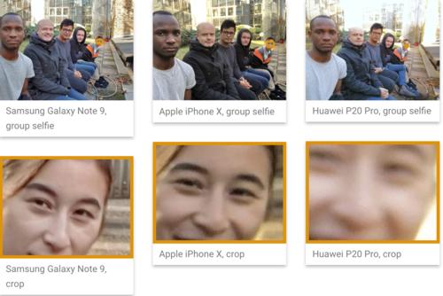Note9 và Pixel 3 đang được đánh giá là smartphone có camera selfie tốt nhất trên thị trường.