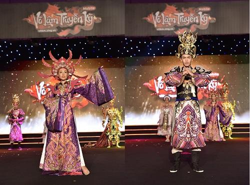Hai bộ trang phục lấy ý tưởng từ trang phục triều Nguyễn.