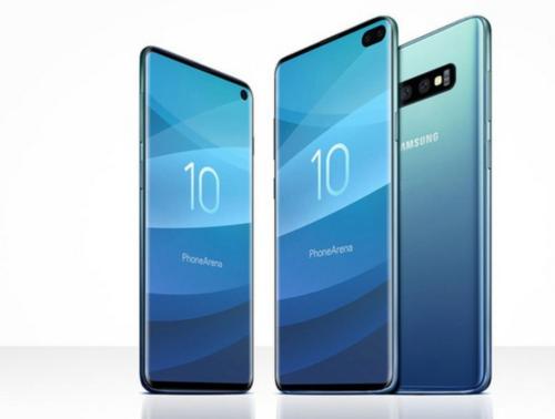 Ảnh render về 3 mẫu Galaxy S10. Ảnh: Phonearena.
