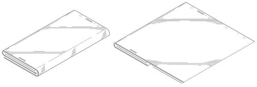 Ý tưởng smartphone gập ba của Intel.