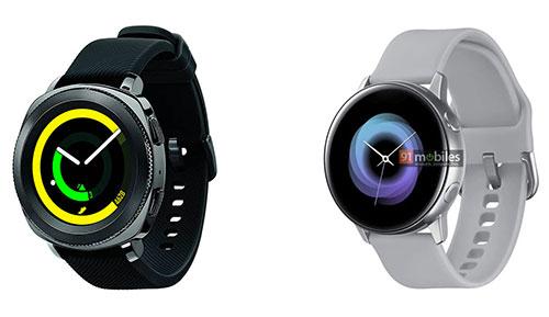 Galaxy Sport (phải) trông đơn giản hơn đồng hồ thông minh thế hệ trước của Samsung.