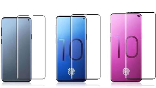 Ảnh được cho là ba phiên bản Galaxy S10. Điểm chung của ba model là màn hình vô cực với các phiên bản nốt ruồikhác nhau.