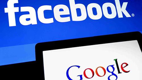 Facebook và Google là hai trong số những công ty thu thập nhiều dữ liệu người dùng. Ảnh: Doblellave.