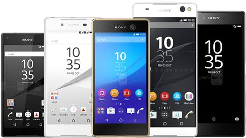 Hầu hết smartphone Sony đều có thiết kế tương tự nhau. Ảnh: Phonearena.