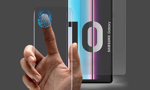 Galaxy S10 sẽ có vân tay siêu âm đặt dưới màn hình với tốc độ quét nhanh. Ảnh: Droid-life