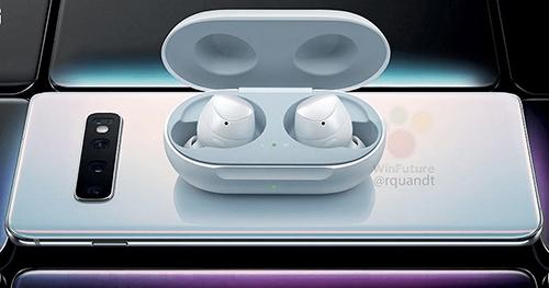 Galaxy S10 có thể chia sẻ pin cho tai nghe Galaxy Buds. Ảnh: WinFuture