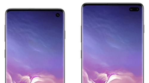Mặt trước SamsungGalaxy S10 (trái) và S10+.