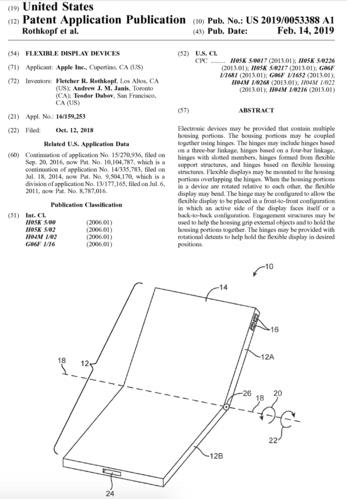 Đăng ký sáng chế màn hình dẻo gập lại được của Apple.