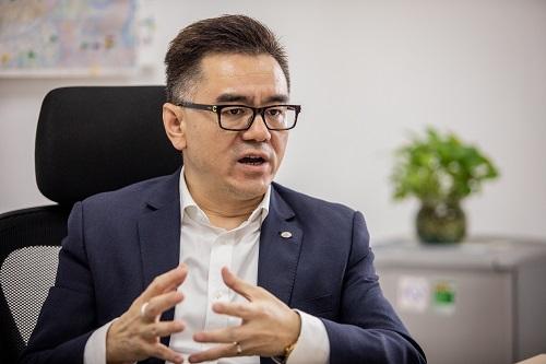 Ông Kevin Wang - CEO TCL Electronics tự tin vào thế mạnh công nghệ và khả năng chinh phục người dùng bằng AI và IoT. Ảnh: Thành Nguyễn.