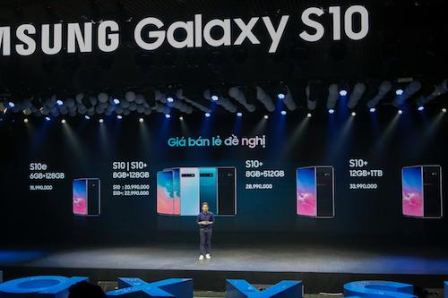 Samsung Galaxy S10 Series có3 model với5 phiên bản bộ nhớ trong khác nhau.
