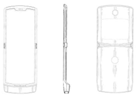 Hình ảnh sáng chế của smartphone Razr màn hình gập. Ảnh: 91Milers.