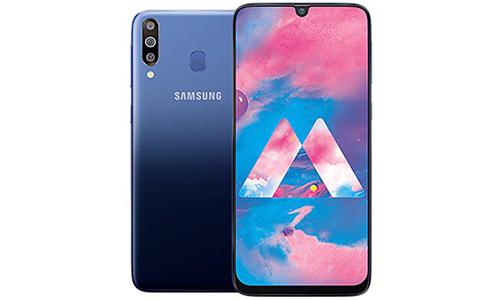 Samsung Galaxy M30 với màn hình Infinity-U, ba camera sau.