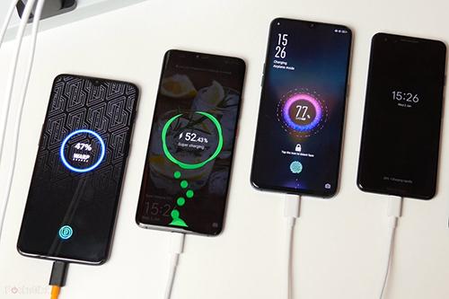 Các công ty điện thoại Trung Quốc có xu hướng phát triểnsạc nhanh của riêng mình. Ảnh: Pocket-lint
