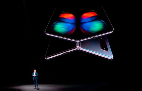 Tại sự kiện Samsung Unpacked 2019, Galaxy Foldcó màn xuất hiện ấn tượng.