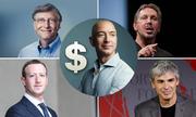 Ông chủ Amazon, Facebook, Google là tỷ phú hàng đầu thế giới
