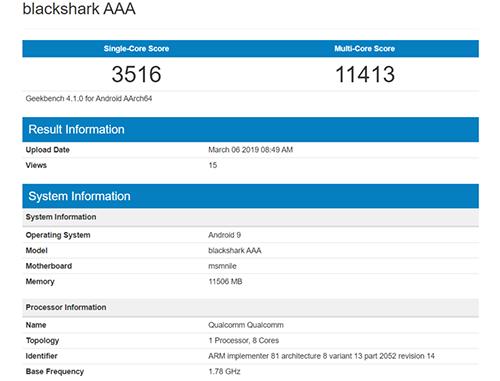 Thông số smartphone của Xiaomi lộ trên Geekbench.