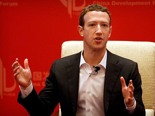 Mark Zuckerberg, CEO kiêm chủ tịch Facebook. Ảnh AP