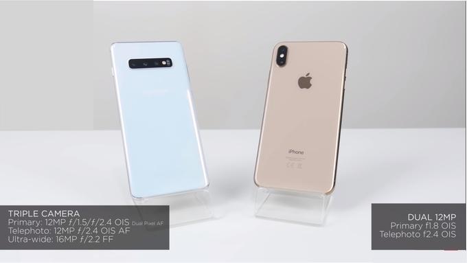 So ảnh chụp Galaxy S10+ và iPhone XS Max