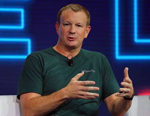 Brian Acton, đồng sáng lập WhatsApp. Ảnh Reuters