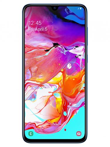 Galaxy A70 với màn hình Full HD+ 6,7 inch và cảm biến vân tay trong màn hình.