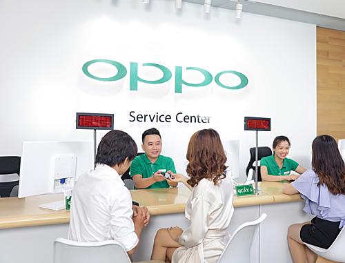 Hệ thống chăm sóc khách hàng của Oppo phủ rộng khắp, mang đến các dịch vụ hậu mãi chất lượng