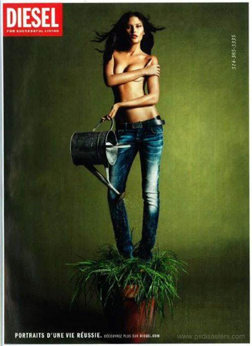 Người mẫu nóng bóng trong quảng cáo của hãng thời trang có chi tiết vô lý. Xem đáp án.