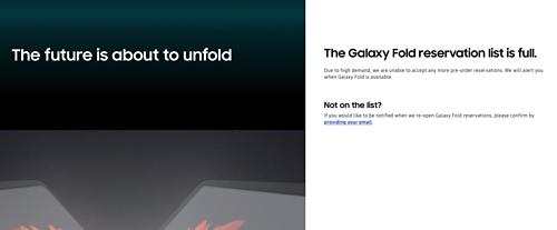 Samsung ngừng nhận đặt hàng Galaxy Fold vì quá tải