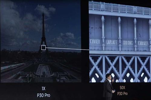 Huawei khoe khả năng zoom 50x trên P30 Pro.