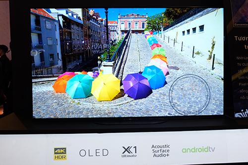 OLED A9G là TV cao cấp nhất của Sony tại Việt Nam năm nay.
