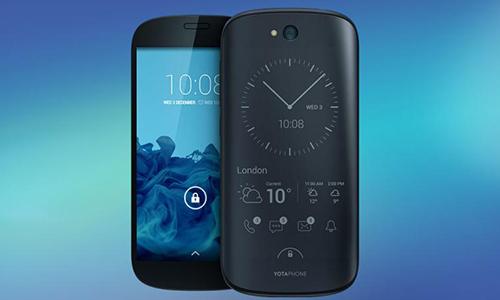 YotaPhone với thiết kế màn hình ở hai mặt.
