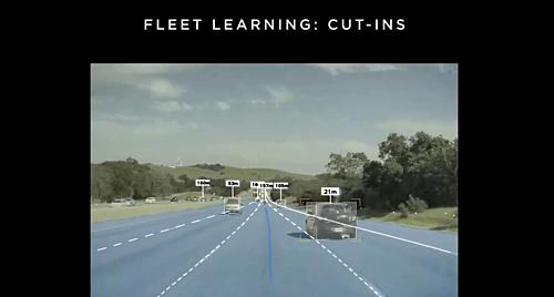 Hệ thống AI của xe tự lái Tesla được đào tạo để phát hiện các chuyển động của ô tô khi chúng chuẩn bị thay đổi làn đường.
