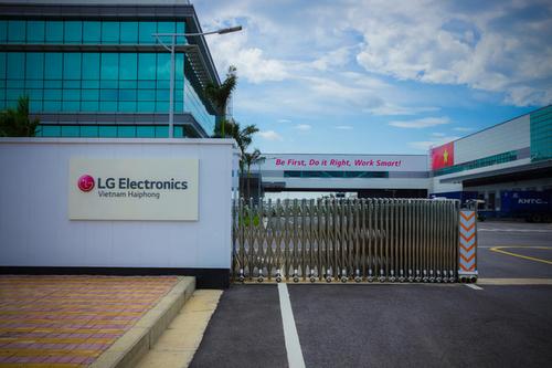 Nhà máy của LG tại Hải Phòng. Ảnh: Cnet.