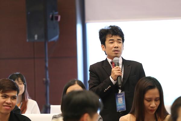 Ông Phạm Anh Tuấn, đại diện một doanh nghiệp bất động sản đến từ Quảng Ngãi.