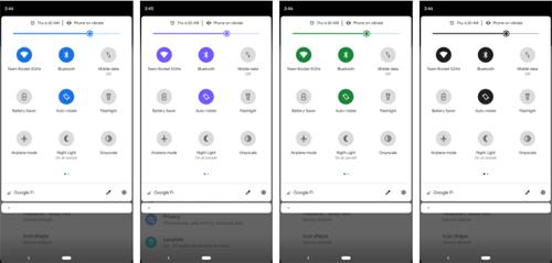 Người dùng có thể đổi màu mặc định trên Android Q.
