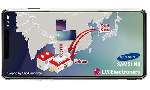 Samsung và LG đều chuyển hướng sản xuất điện thoại sang Việt Nam.