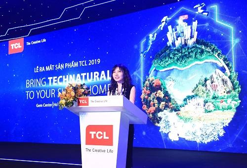 Bà Summer Gao – Giám đốc điều hành TCL Việt Nam chia sẻ mục tiêu nâng cao trải nghiệm người dùng qua loạt sản phẩm mới ra mắt.