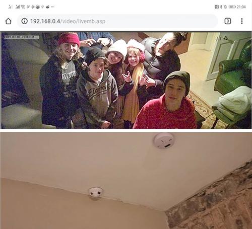Gia đình phát hiện camera quay lén giấu trong thiết bị báo khói.