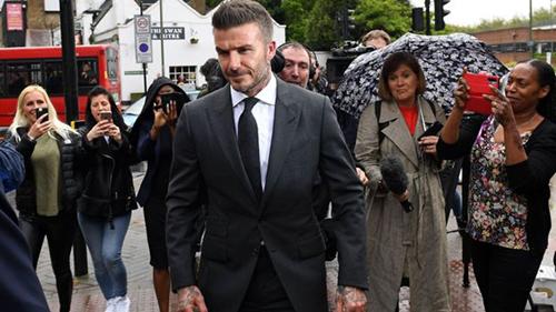 David Beckham trước phiên tòa. Ảnh: BBC.