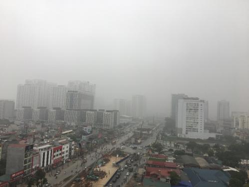 Công trình xây dựng và bụi mịn ở nhiều nơi tạiHà Nội và TP HCM, cả ngoài trời và trong nhà.