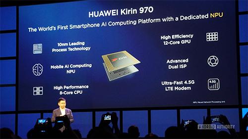Chip xử lý Kirin của Huawei sản xuất dưới sự hợp tác với ARM.