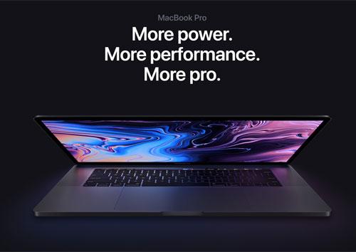 MacBook Pro 2019 giữ nguyên kiểu dáng, chỉ nâng cấp cấu hình.