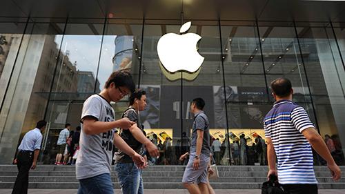 Bên ngoài một Apple Store tại Bắc Kinh. Ảnh: TechNode.