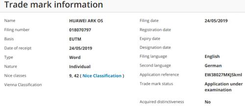 Ark OS có thể là tên hệ điều hành Huawei phát triển để thay thế Android.