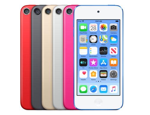6 màu sắc của iPod Touch 2019.
