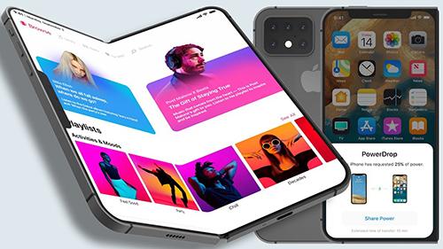 Một ý tưởng iPhone X Fold màn hình gập. Ảnh: EverythingApplePro.