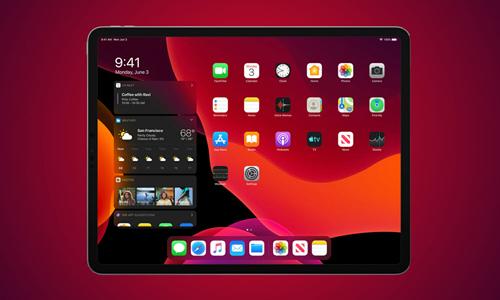 Giao diện của iPadOS.