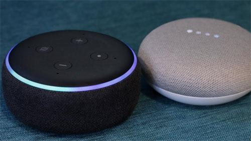 Bán chạy tại Mỹ nhưng Echo Dot 3 của Amazon (màu đen) thất thế trước Google Home Mini tại Việt Nam.