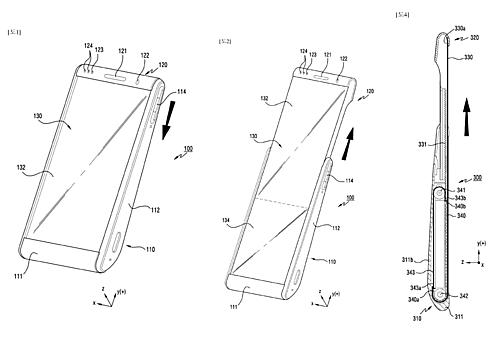 Thiết bị được Samsung mô tả có màn hình có thể cuộn tròn lại hoặc kéo dài ra tuỳ từng nhu cầu sử dụng. Ảnh: letsgodigital.
