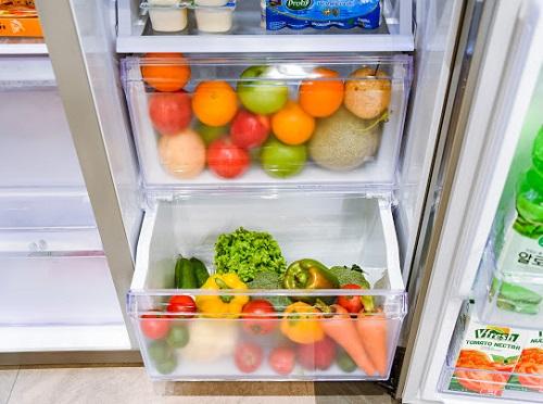 Công nghệ làm lạnh vòm All Around Cooling của tủ lạnh Side By Side RS5000 giúp toả lạnh đều mọi ngóc ngách tủ lạnh.